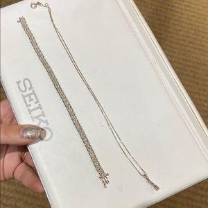 ~2ct. Diamond Bracelet and Necklace Set